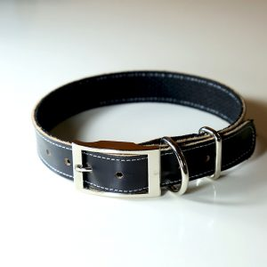 Leather Dog Collar Black