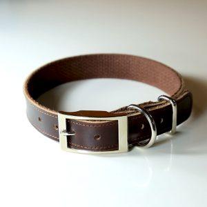 Leather Dog Collar Brown