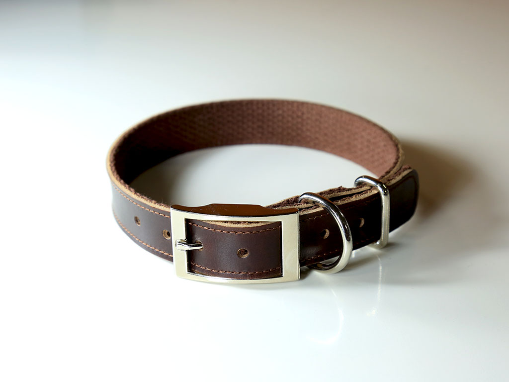 Leather Dog Collar Brown